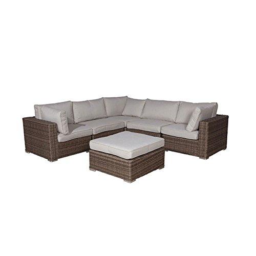 Gartenlounge OUTLIV. Robinia Lounge-Set 6-teilig Geflecht Kubu 700016-835739