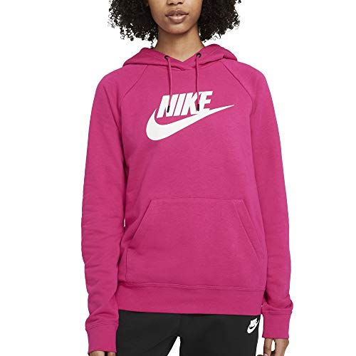Nike Sudadera de mujer con capucha con logo fucsia cód. BV4126-617 fucsia y blanco S