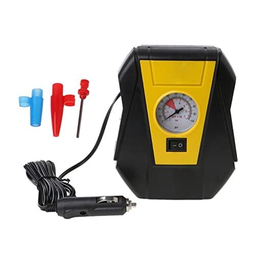 SLATIOM Bomba portátil automática del compresor de Aire del inflador eléctrico del neumático del Coche 12v llevada fácil Llevar