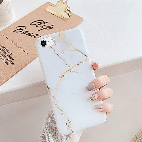 Surakey Cover Compatibile con iPhone 7/8 Custodia Silicone Morbido Modello Creativo Geometric Marmo Case con Flessibile TPU Bumper Moda Ultra Slim Anti-Scratch Cover per iPhone 7/8,Stile Nordico