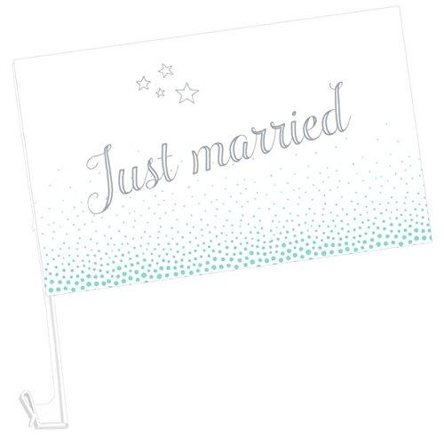Autofahnen - Just married: 2 Ex. im Set