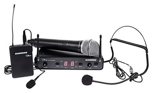 Samson Concert 288 UHF Lavalier Wireless Microphone Mic 4 Church Sound Systems