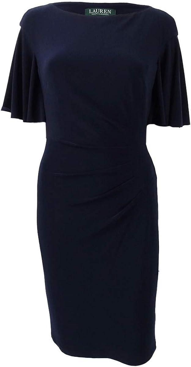 Lauren by Ralph Lauren Women's Cape-Overlay Sheath Dress