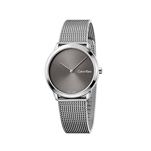 Calvin Klein Damen Analog Quarz Uhr mit Edelstahl Armband K3M221Y3