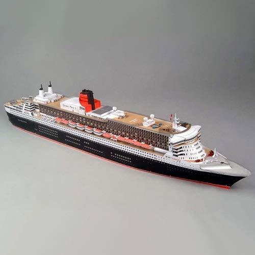 ELVVT 1: 400 britische Queen Mary II Kreuzfahrtschiff Modell Handgefertigte High Schwierigkeit DIY Papier-Kunst-Modell-Spielzeug Geburtstag Dekoration Geschenke for Militär Fans Kind Erwachsene