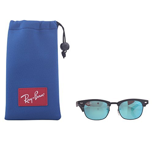 Ray-Ban Junior Kids' RJ9050S Clubmaster Square Sunglasses, Blue/Blue...