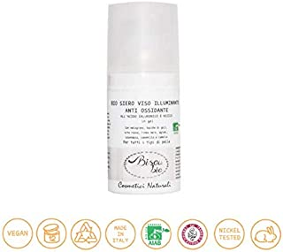 BISOU BIO - Antioxidant Illuminating Face Serum - with hyaluronic acid - Gel Formula - For all skin types - Vegan - Nickel Tested - Cruelty Free - 30 ml