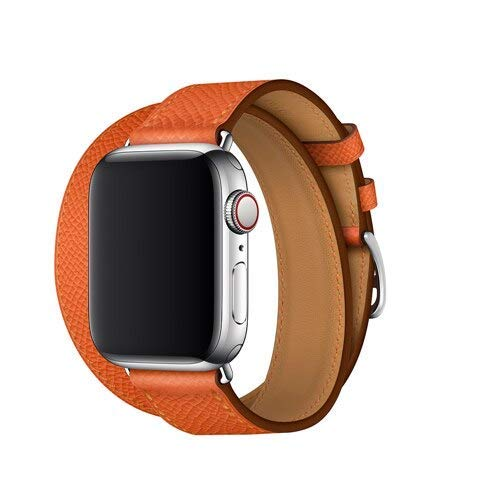 KTZAJO 2021 The Latest Leather Strap for Compatible with Watch 5 Band 4mm 40mm iwatch Band 42mm Correa Compatible with Watch 38 m Bracelet Wrist watchband 4 3 2