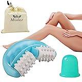 Coppettazione Silicone,Coppettazione,Cupping Cup, Set Trattamento Anti Cellulite Con Rullo Massaggiante Cellulite e Tazza