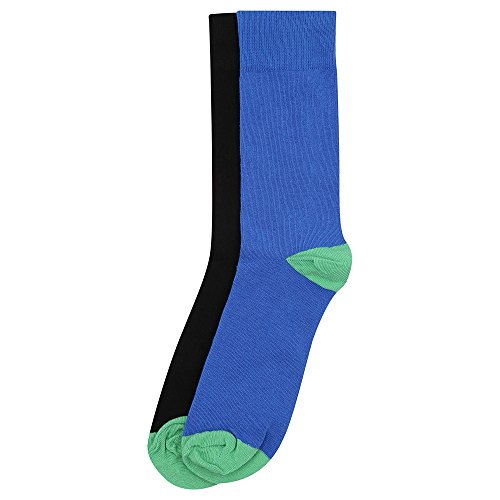 STOP to start by Shoppers Stop Mens Solid Socks Pack of 2