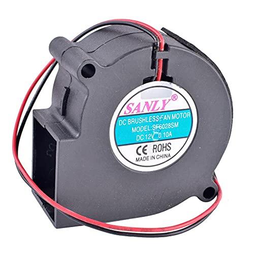 Best fan for cooling SF6028SM 6028 6cm 12V 0.10A Centrifugal Turbo Blower Fan - Humidifier/Dehumidifier Cooling Fan