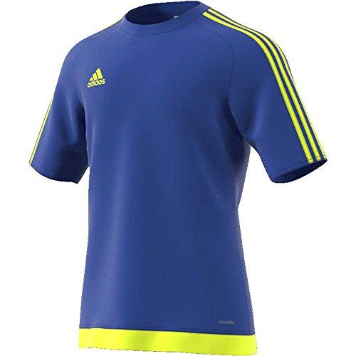 adidas Estro 15 Jersey, Maglietta da Calcio Uomo, Blu (Azufue/Amasol), M