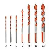NO LOGO Prima 7pcs / Set Manija Multifuncional Brocas Mármol Taladro del perforador de la baldosa cerámica (Color : 7PC)
