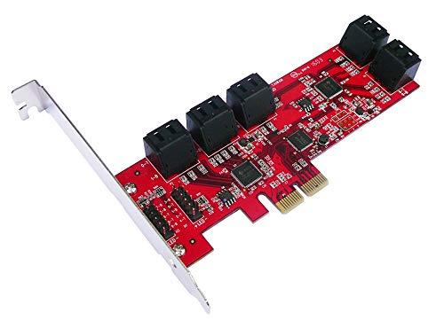 KALEA-INFORMATIQUE Karte Controller PCIe SATA 3.0–10Ports–Professionelle/Komponenten, hochwertig–Treiber vorinstallierten für Windows/Mac/Linux.