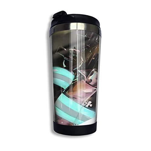 Fire Force Reisebecher Becher mit Deckel Thermoskanne Kaffeetasse Vakuumisolierte Flasche Edelstahl Wasserflasche 400 ml, Weihnachtsgeburtstagsgeschenke