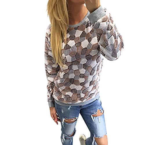 ✔Piabigka✔Maglie Donna Spalla Senza Spalline Invernale Tops Tinta Unita Sottile Casuale Magliette Maniche Lunghe Donna Elegante Cappotto Vintage Maglietta Pullover T-Shirt Bluse Primavera Felpe
