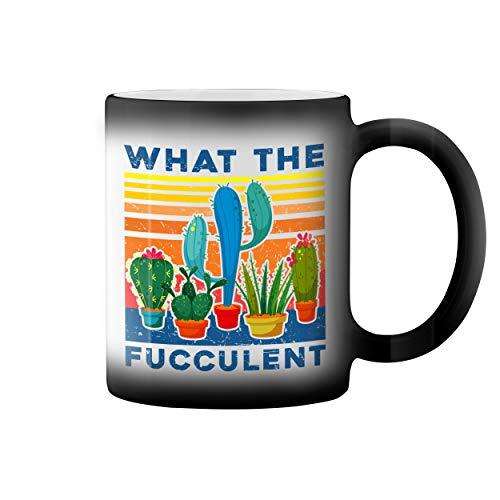 What The Fucculent Sexy Taza de caf negro mgico Mug