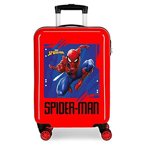 Marvel Spiderman Street Maleta de cabina Rojo 37x55x20 cms Rígida ABS Cierre combinación 34L 2,6Kgs 4 Ruedas Dobles Equipaje de Mano