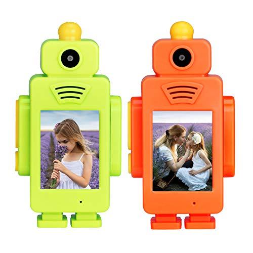 Retevis RT34 Walkie Talkie con Fotocamera, Walkie Talkie per Bambini, Display da 2 Pollici con Giocattolo 2.4G, USB Ricaricabile, Torcia a LED Integrata Prescolari per attività Interno(2 Pezzi)