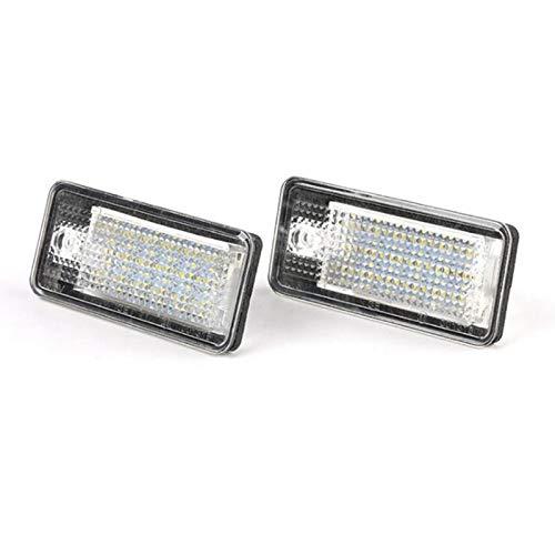 GoolRC Conjunto de Lámpara de Luz de Placa de Número de Licencia LED, Reemplazo de 18 Piezas LED para A3 S3 A4 S4 B6 A6 S6 A8 S8 Q7
