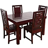 Furny Della Solid Wood (Teak Wood) 6 Seater Dining Table Set- Mohgany Polish termite treatment Apr, 2021