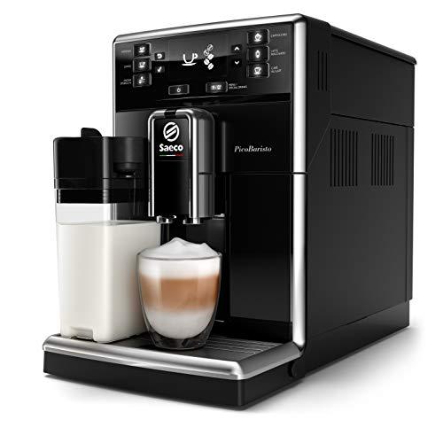Philips Macchine da caffè Automatiche Saeco PicoBaristo SM5460/10 Macchina da Caffè Automatica, 10 Bevande, con Macine in Ceramica, Filtro AquaClean, Caraffa Latte Integrata, Nero