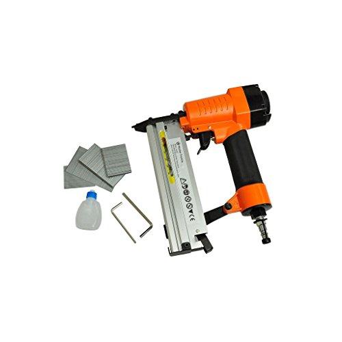 Druckluftpistole Druckluft-Tacker-Nagler Set Kompressor,Rutschsicherer Handgriff 1/4