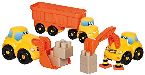 Jouets Ecoiffier -3346 - Coffret véhicules de chantier Abrick – Jeu de construction pour enfants – Dès 18 mois – Fabriqué en France