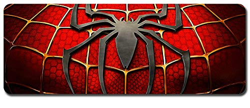 Spider-Man Mouse Pad,Professional Large Gaming Mouse Pad, Classic Pattern Mouse mat,Extended Size Desk Mat Non-Slip Rubber Mouse Mat (3, 800 x 300 x3 mm / 31.5 x 11.8 x 0.1 inch)