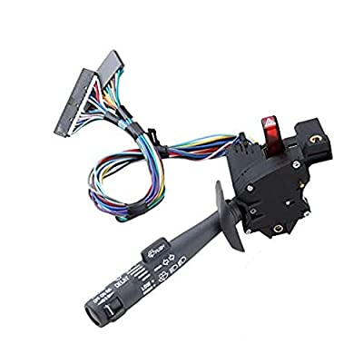 Multi-Function Combination Switch with Turn Signal, Wiper, Washers, Hazard Switch Cruise Control - Replace 26100985 2330814 26036312, Fits for Chevy Tahoe, Blazer, Suburban, K1500, Sierra & More