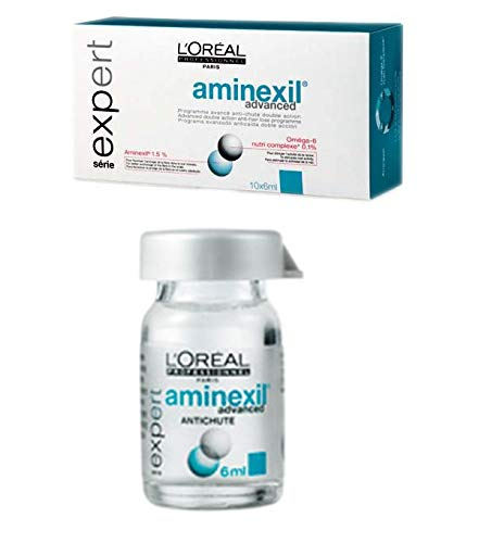 L'Oréal Professionnel Expert - Aminexil Advanced antichute - Tratamiento avanzado anticaída con doble acción - 10 doses de 6 ml