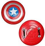 SKINGO Capitán Luminoso América Escudo Plástico 32 Cm Avengers Avengadores Apoyos De Mano Modelo Decoración, Niño Play Play Superhéroe Dress Up Retro Disfraz Accesorios Hecho,20#