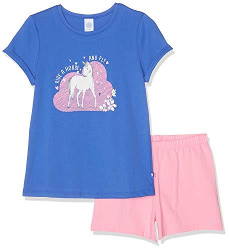 Sanetta Mädchen Pyjama Short Zweiteiliger Schlafanzug, Blau (Cornflower Blue 5357), 104