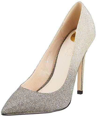 Buffalo Damen Amica Pumps, Schwarz (Black Glitter 000), 38 EU