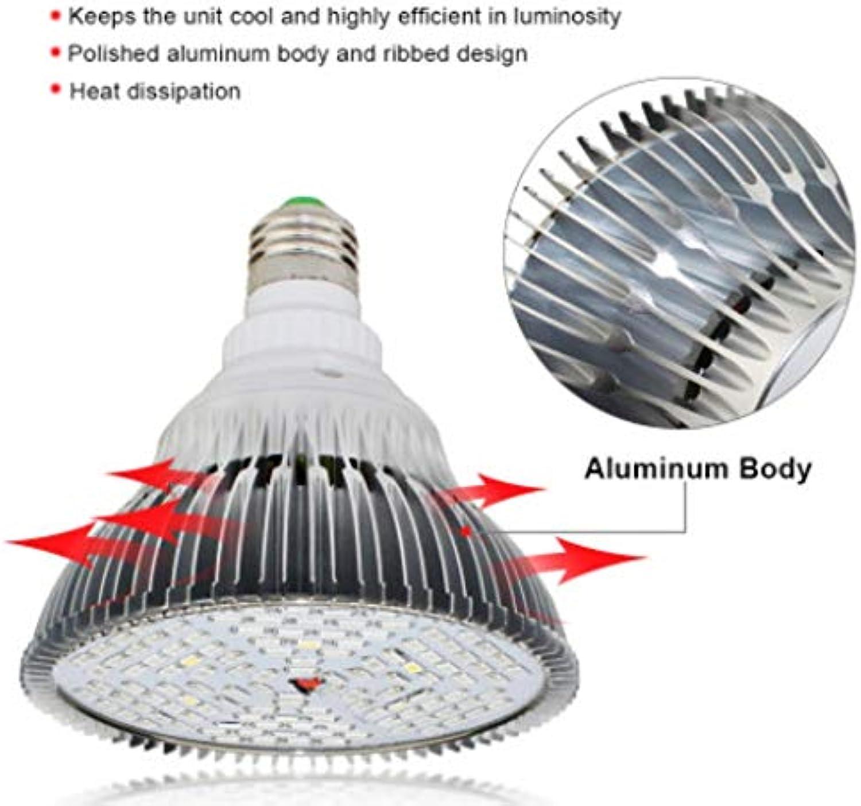 Xiadsk LED Pflanzenlicht Vollspektrum 30W 50W 80W E27 LED Pflanzenwachstumslicht Fitolampy Bulb