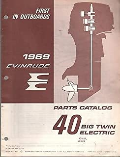 1969 EVINRUDE OUTBOARD MOTOR 40 HP BIG TWIN ELECTRIC PARTS MANUAL (057)
