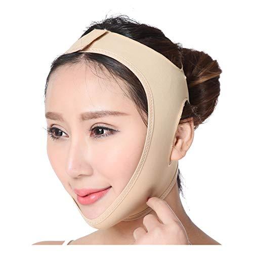 YLFC Women Face Slimming Strap Facial Lifting Tool Sculp Bandage V Face Shaper Cheek Lift Chin Slim Neck Thin Facial Slimming Belt (Color : Skin, Size : XX-Large)