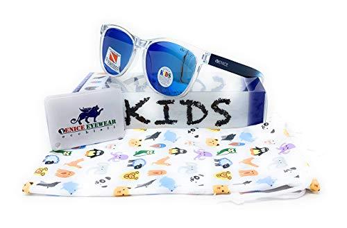 VENICE EYEWEAR OCCHIALI Gafas de sol Polarizadas para niño (Azul-Transparente)