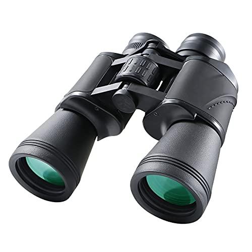 GAOXIAOMEI 20x50 Binoculares para Adultos Potente HD Telescopio Profesional Impermeable a Prueba de Niebla FMC BAK4 Lente de Prisma con visión Nocturna con Poca luz para Viajes al Aire Libre