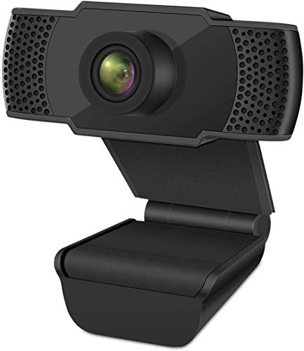 1080P Webcam with Microphone, FHD USB Web Camera for PC Laptop Desktop, Streaming Computer Camera for Video Calling, Recording, Conference, Online Teaching, Business Meeting