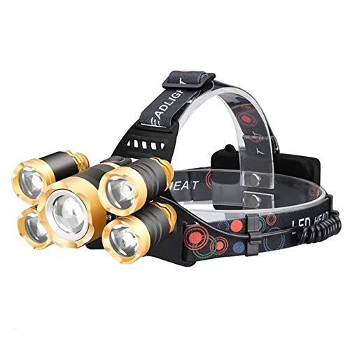 ZTKGB Oplaadbare koplamp T6 LED 40000 lumen zoeken naar vissen, bergbeklimmen, fietsen, zoom koplampen, flitslicht, sensor, koplamp, buitenverlichting
