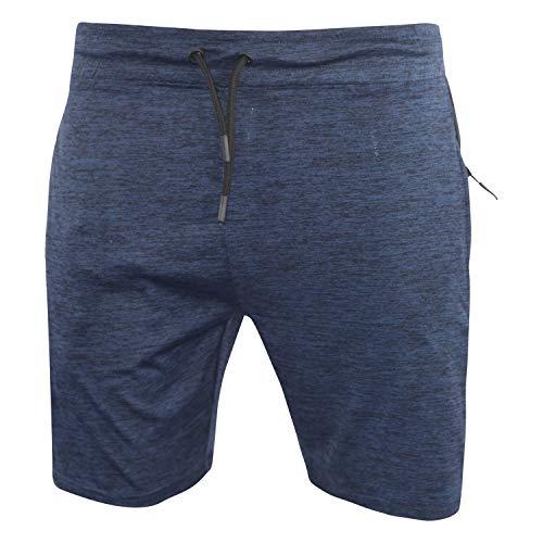 Alex Jones Pantalones cortos de entrenamiento de secado rápido para hombre con bolsillos con cremallera