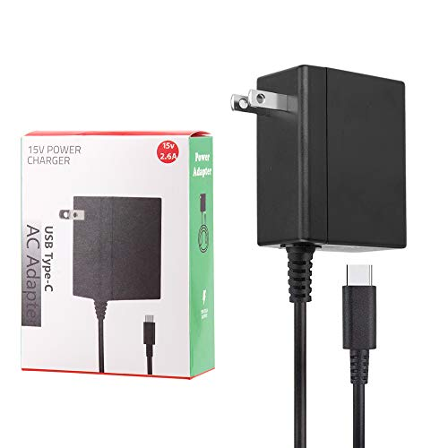 AC Adapter Charger for Nintendo Switch, LP Switch 15V/2.6A AC Fast Charging Station Hub Power Supply, Replacement for Nintendo Switch/Switch Lite with 59 inch Type-C Cable, Support TV Mode and Dock