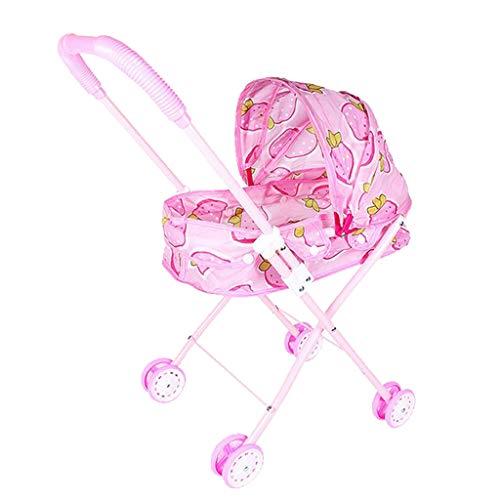 freneci 赤ちゃん人形用 おせわベビーカー おせわパーツ 知育玩具 折り畳み ドールハウスキット 3色選択 - #2
