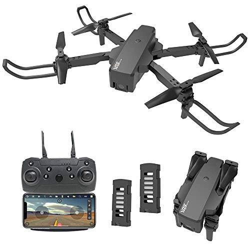 le-idea Drone con Telecamera Professionale 2K HD, Quadricottero WiFi con Tecnologia Flusso Ottico, 3D Flip, Controllo dei Gesti, Mini FPV Drone Adatto ai Principianti e Bambini, 2 batterie