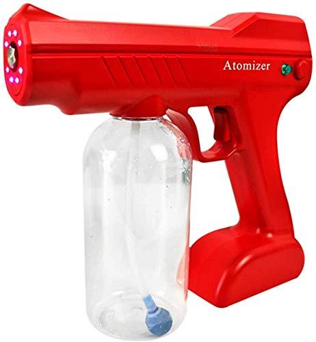 CN Cover Máquina pulverizadora, 800 ml de luz azul desinfección spray niebla máquina, Nano pistola de vapor desinfección aerosol nano humidificador para hotel,escuelas, rojo