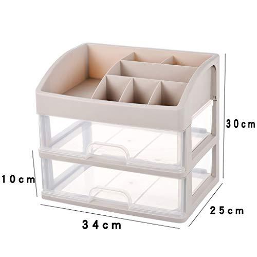 KKY-ENTER Boîte de rangement cosmétique transparente en plastique multi-couche de type tiroir Bureau rouge à lèvres Bijoux produits de soins de la peau boîte de stockage d'affichage 34 * 25 * 30 cm