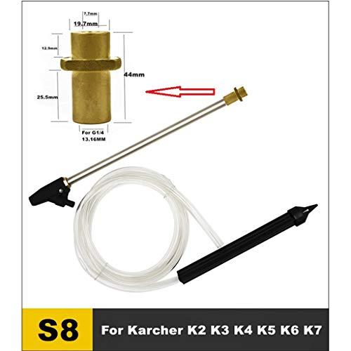 Gwxevce Chorro de Arena húmeda Lance Spearstick Lavadora de Autos Equipo para Lavadora de Alta presión Blaster Gold