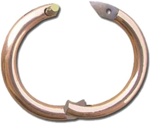 """Bull Nose Ring Brass Dairy Beef Cattle Small 2.5/"""" with Screws Show Milking Cows"""