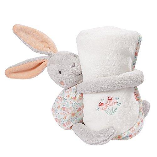 Fehn 062175 Kuscheltier Hase mit Decke | Perfektes Geschenk-Set aus Stofftier und Kuscheldecke zum Knuddeln, Schmusen und Liebhaben | Für Babys und Kleinkinder ab 0+ Monaten